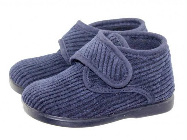 Zapatillas Casa Bota Velcro Azul marino