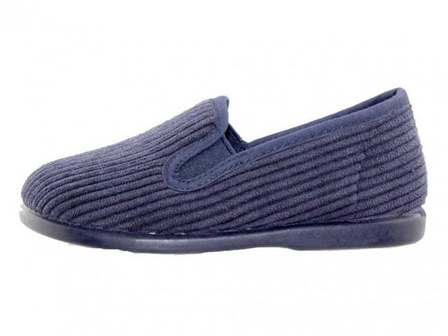 Zapatillas casa niños pana Azul Marino