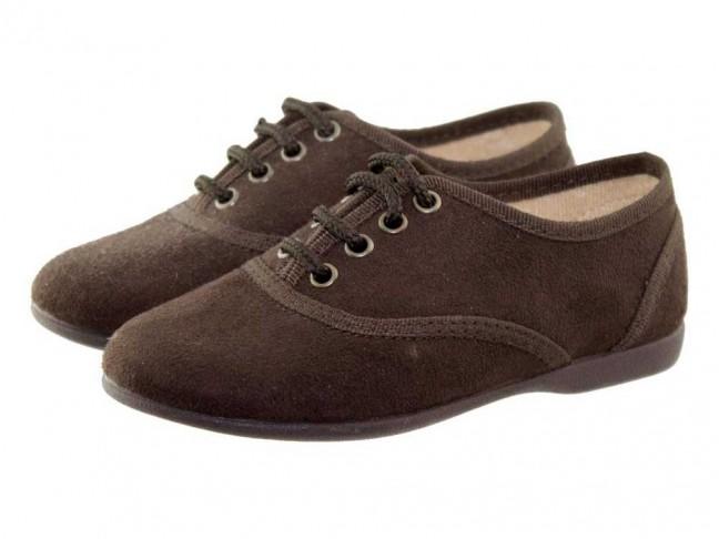 Zapatos blucher niños textil gris