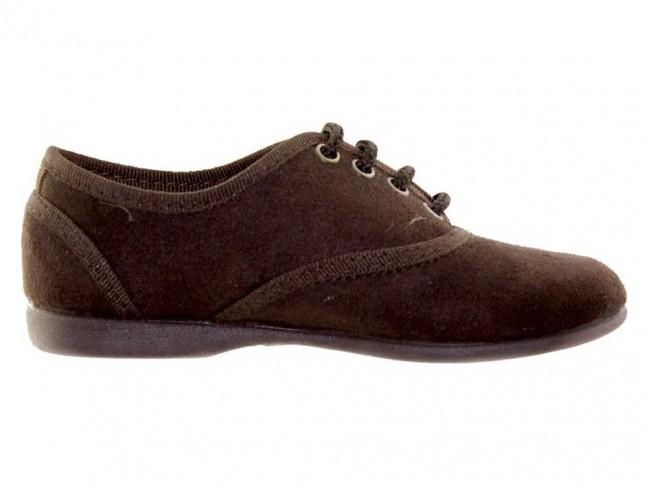 Zapatos blucher niños textil marrón
