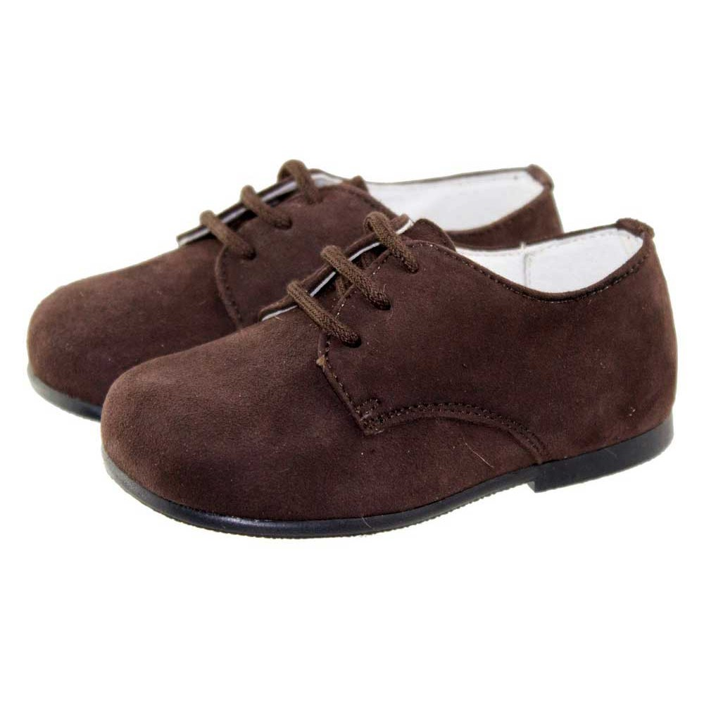 9780aad6450 Zapatos blucher niños serraje marrón