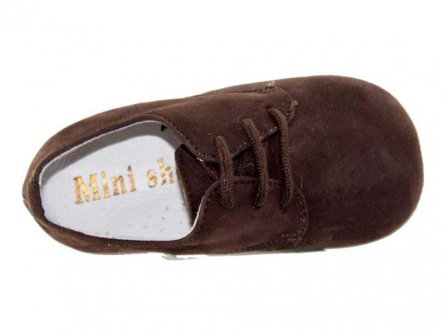 Zapatos blucher niños serraje marrón