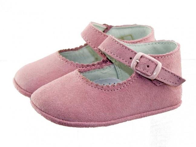 Merceditas bebé ante hebilla rosa