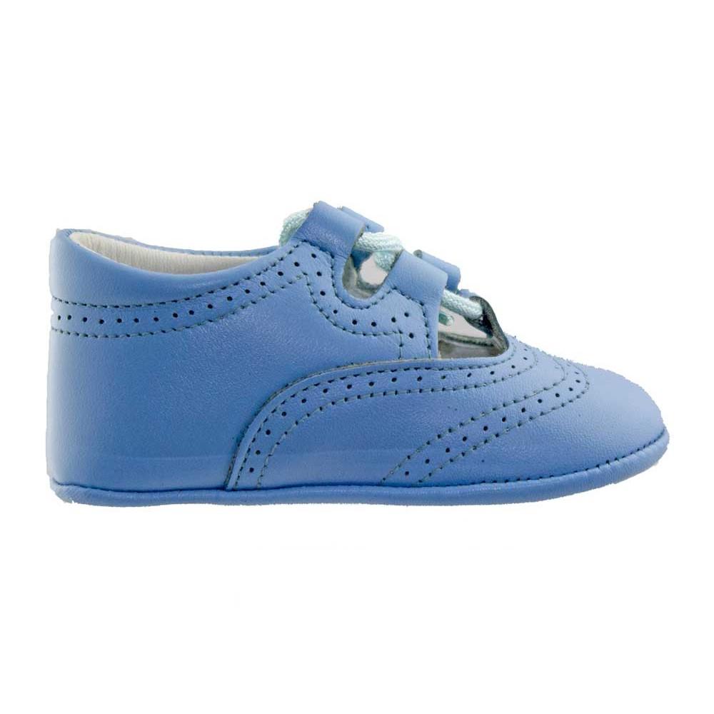 5d65c4fc49644 Zapatos inglesitos bebé piel azul