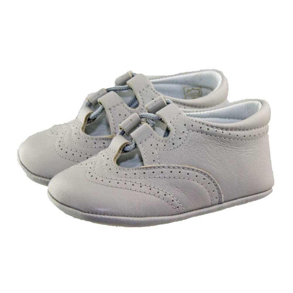 c03d21f40 Zapatos inglesitos bebé piel gris