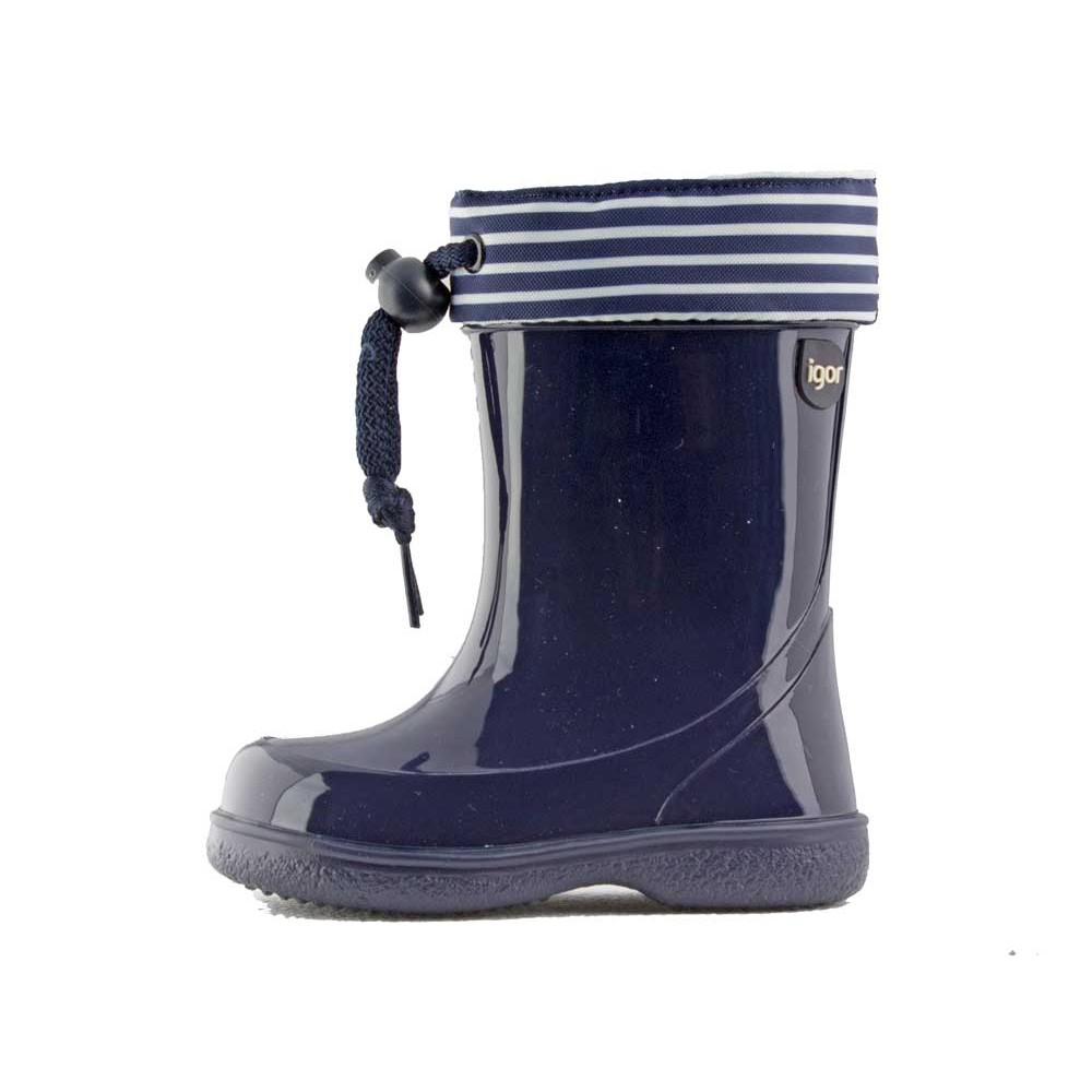 eef3c7e2c Botas de agua niños Rayas marineras azul marino