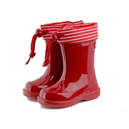 Botas de agua niños Rayas marineras rojas