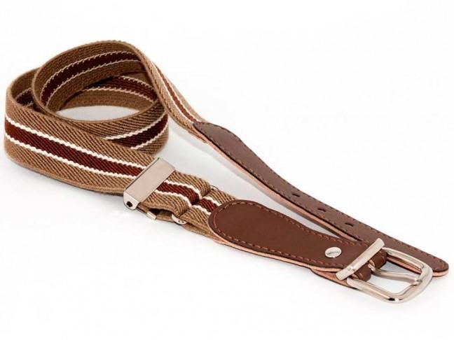 Cinturon Niños Rayas marrón