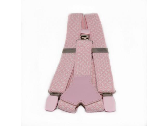 Tirantes niños Topos rosa claro