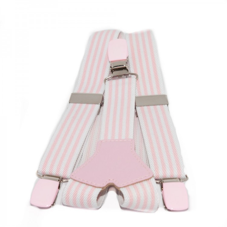 Tirantes niños Raya fina rosa claro