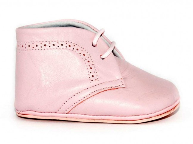 Botitas bebe piel rosa
