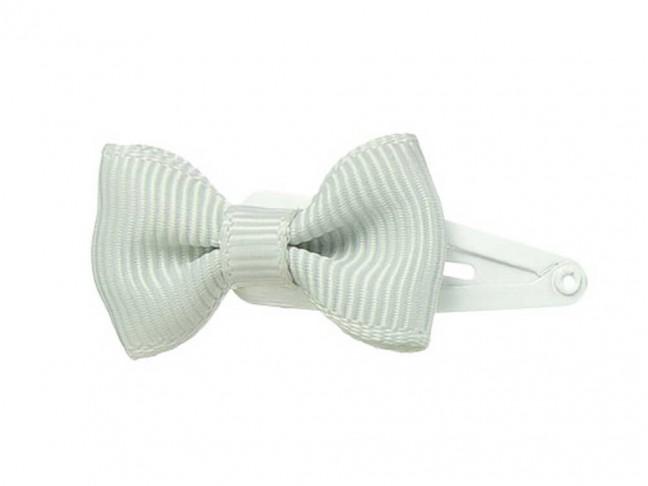 Ranita Niñas con lazo de 3 cm gris claro