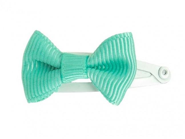 Ranita Niñas con lazo de 3 cm verde aguamarina