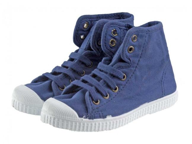 Botas niños lavadas tipo Converse azul