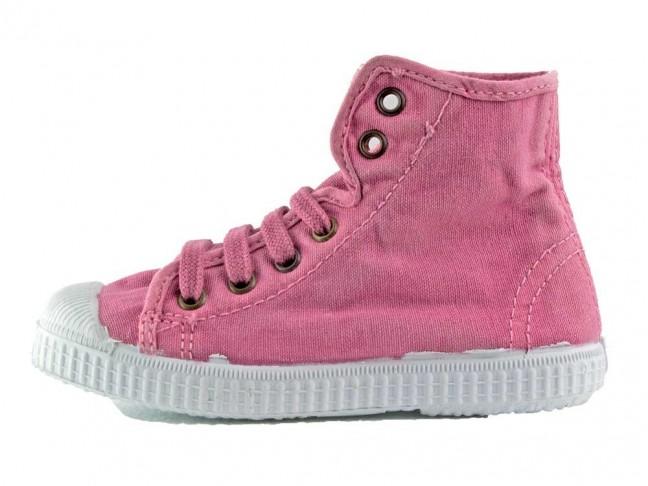 Botas niños lavadas tipo Converse rosas