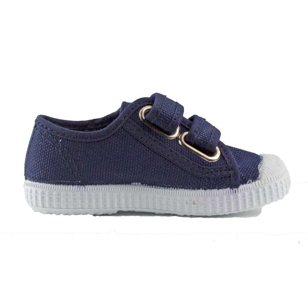 896a7f518 Zapatillas lona niños velcro azul marino