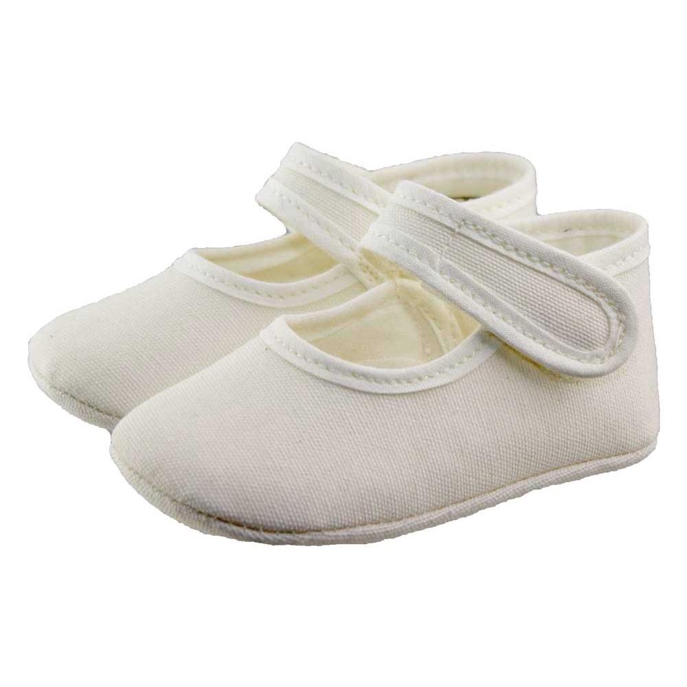 8e84a414c Merceditas bebé tela blanco