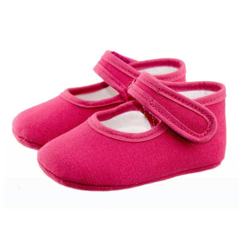 0bcd6ed2fc1 Merceditas bebé tela rosa