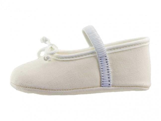 Bailarinas Bebé tela blanco