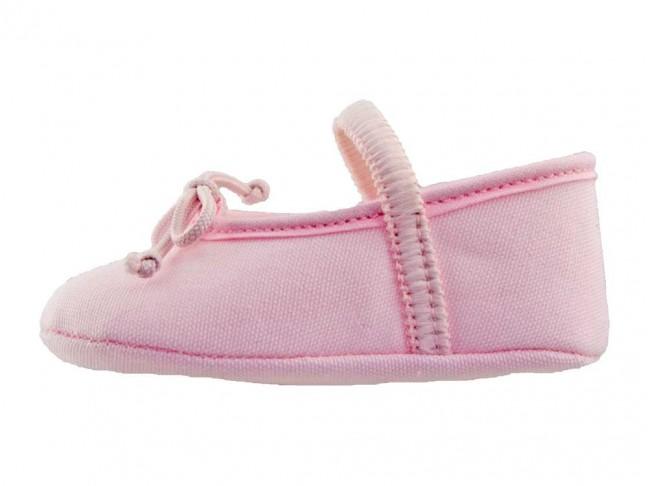 Bailarinas Bebé tela rosa