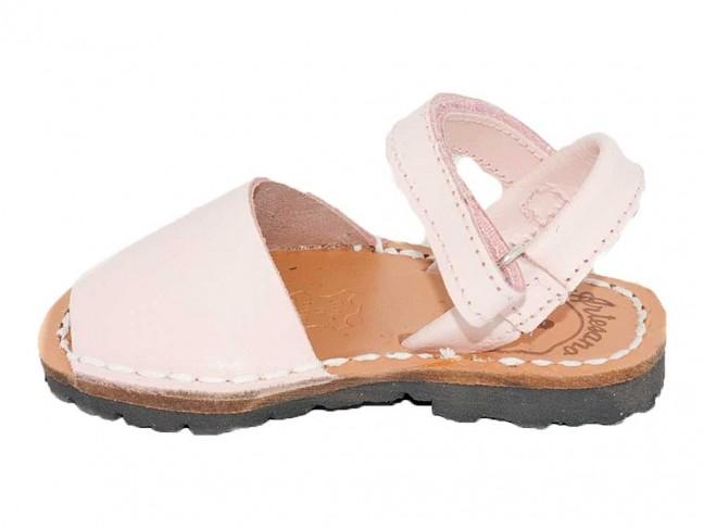 Menorquinas Velcro niño niña rosa claro