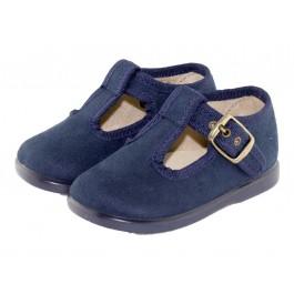 Zapatos pepitos niños serratex azul marino
