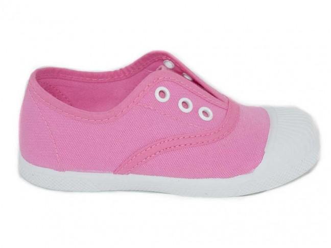 Zapatillas bambas puntera rosa