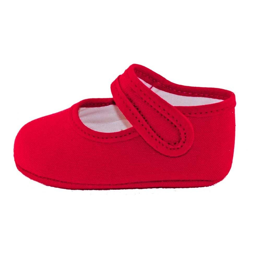 66479f11a Merceditas bebé tela rojo