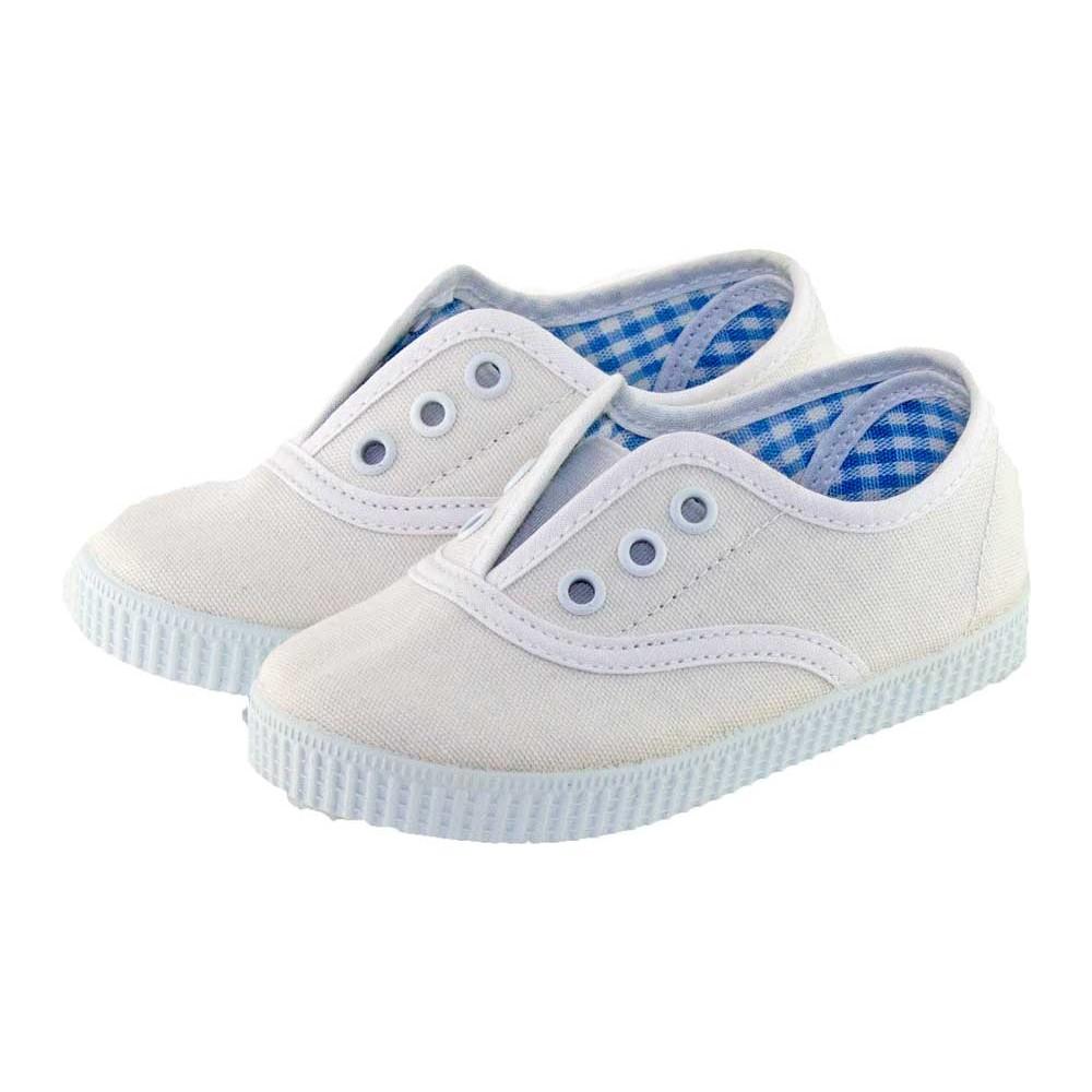 Zapatillas Bambas niño niña tipo Victoria con elástico blanco d3b667db912d