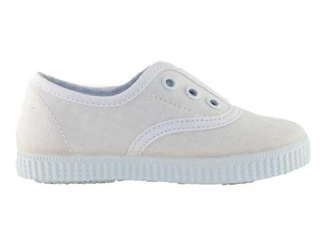 Zapatillas Bambas niños tipo Victoria con elástico blanco