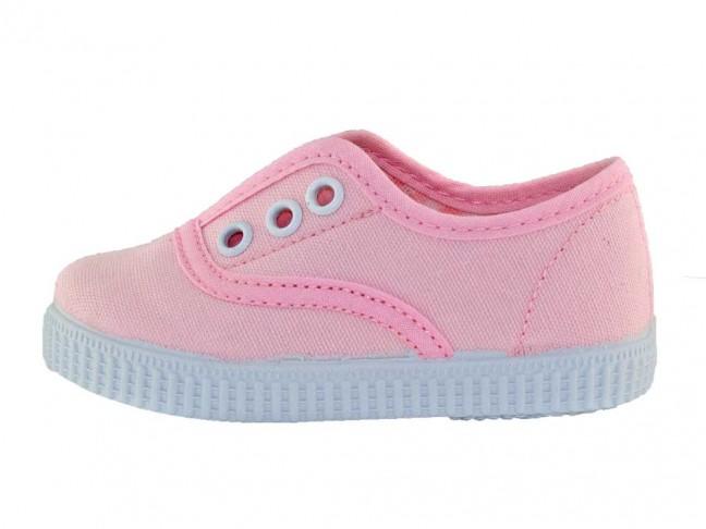 Zapatillas Bambas niños tipo Victoria con elástico azul