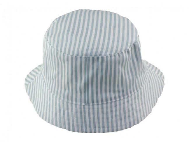 Sombreros bebes y niños Algodón Rayas azul claro