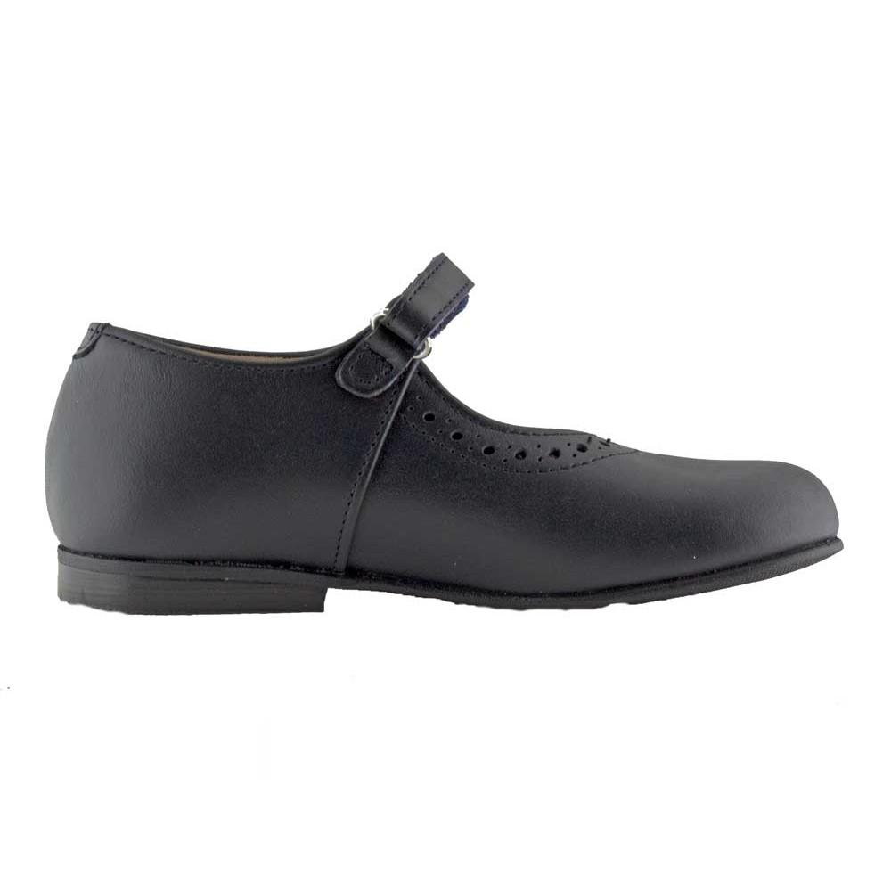 841e664b11b4a Zapatos Colegio Merceditas Niña Tira Fina Velcro azul marino