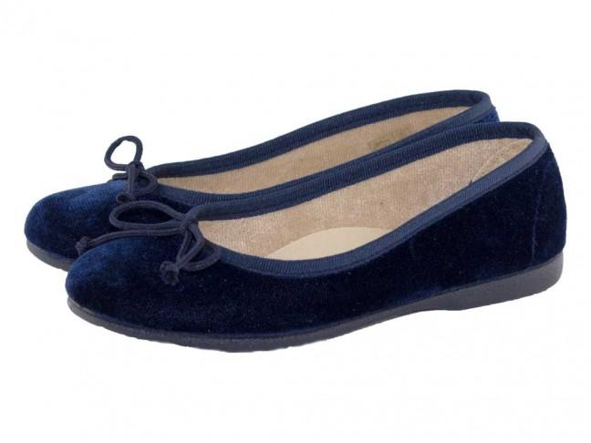 Bailarinas niña terciopelo azul marino