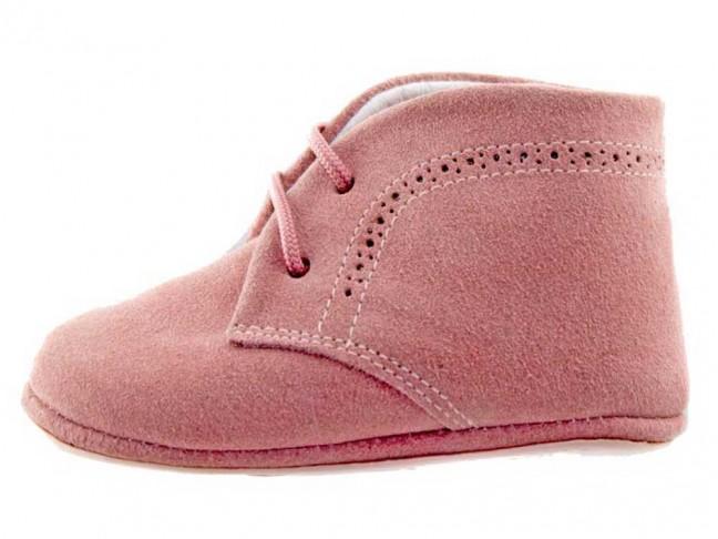 Botitas bebé serraje rosa