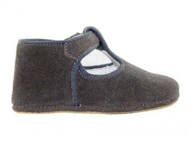 Zapatos pepitos bebé serraje gris