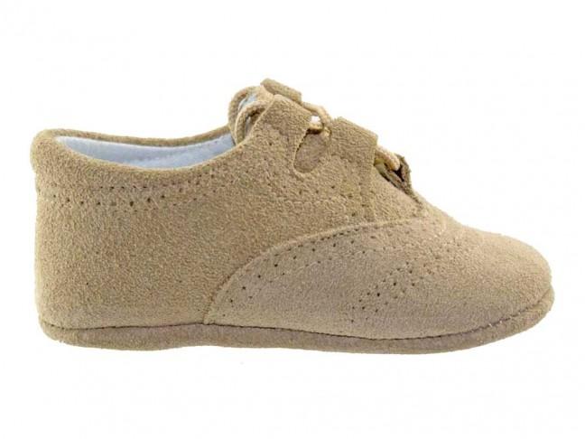 Zapatos Inglesitos bebe serraje beis