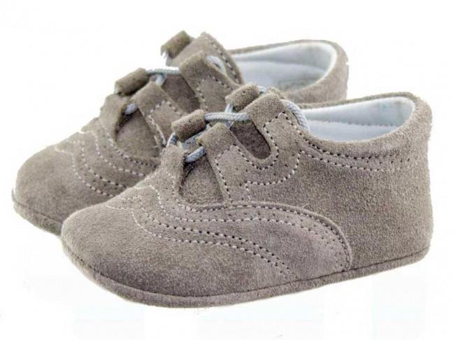 Zapatos Inglesitos bebe serraje gris