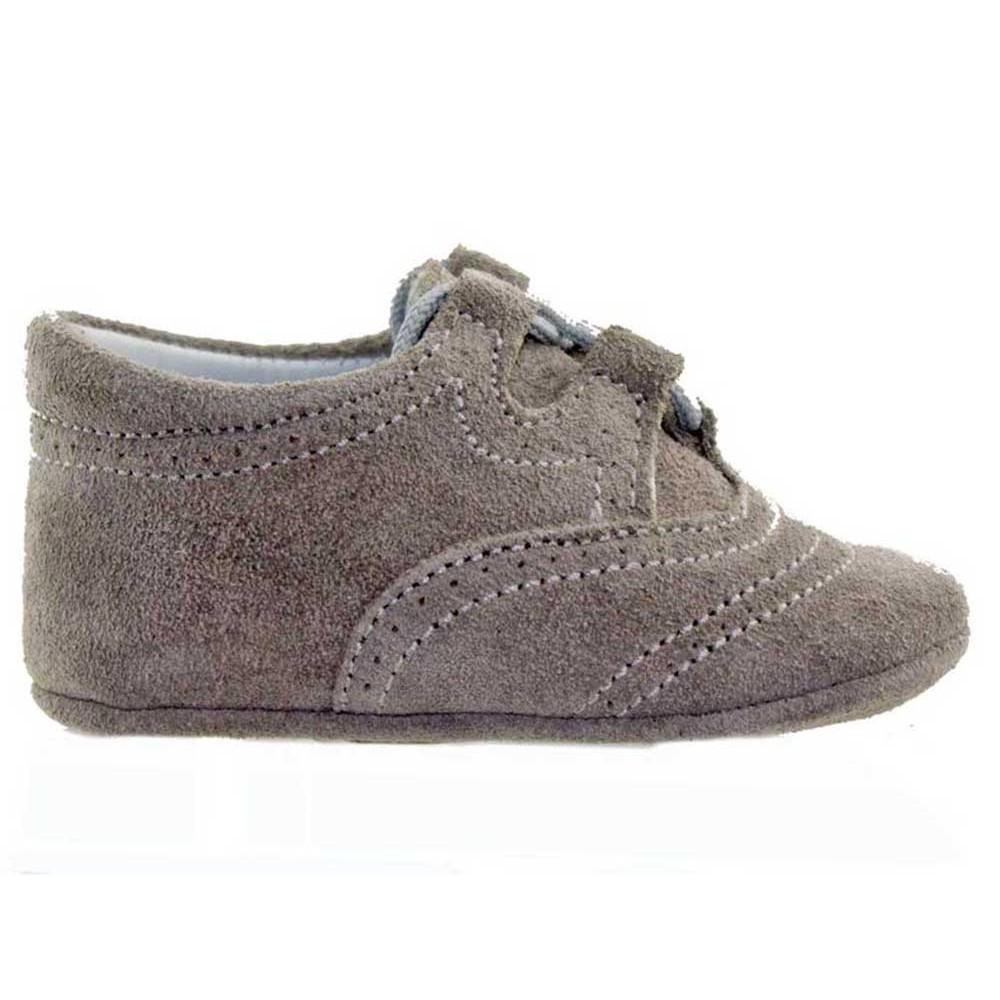 36b61eee3 Zapatos Inglesitos bebe serraje gris