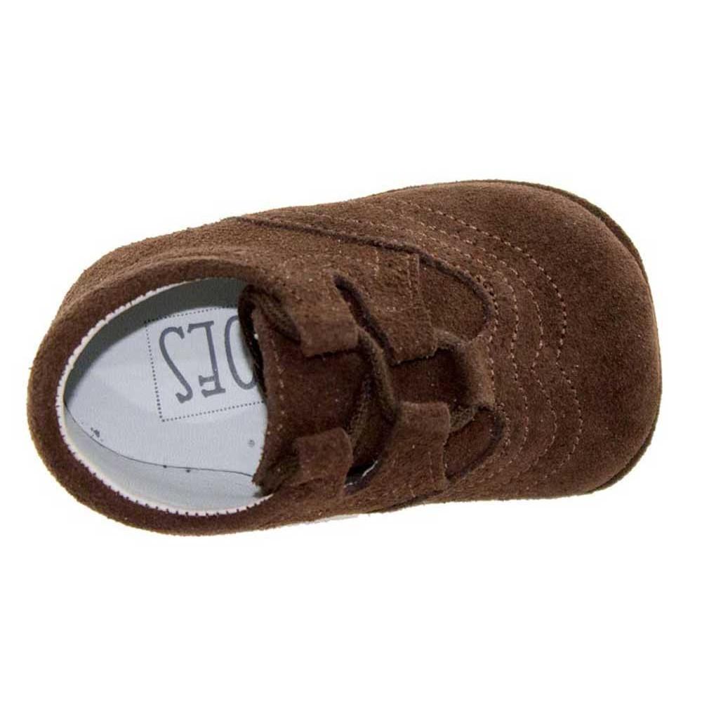 abefe0b27ac29 Zapatos Inglesitos bebe serraje marrón