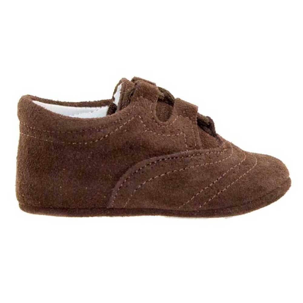 43ff7cbf6 Zapatos Inglesitos bebe serraje marrón