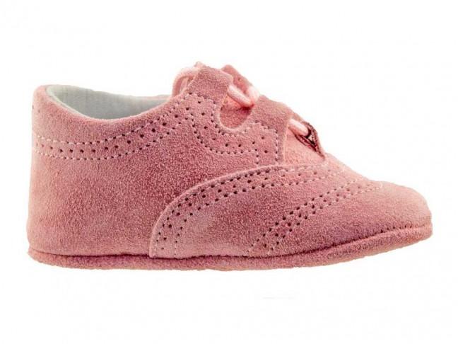 Zapatos Inglesitos bebe serraje rosa