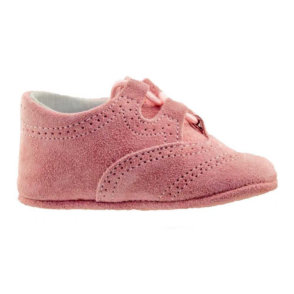6302a1c1c84 Zapatos Inglesitos bebe serraje rosa