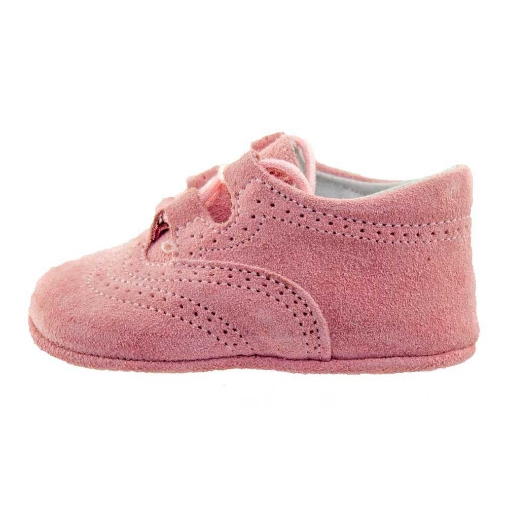 b89559281f4c6 Zapatos Inglesitos bebe serraje rosa