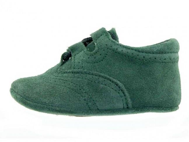 Zapatos Inglesitos bebe serraje verde