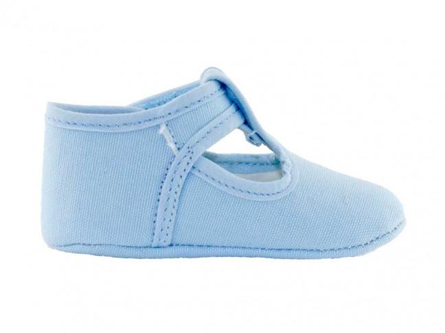 Zapatos Pepitos Bebe Tela azul bebe