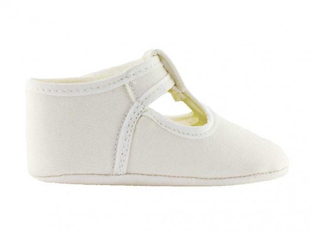 Zapatos Pepitos Bebe Tela blanco