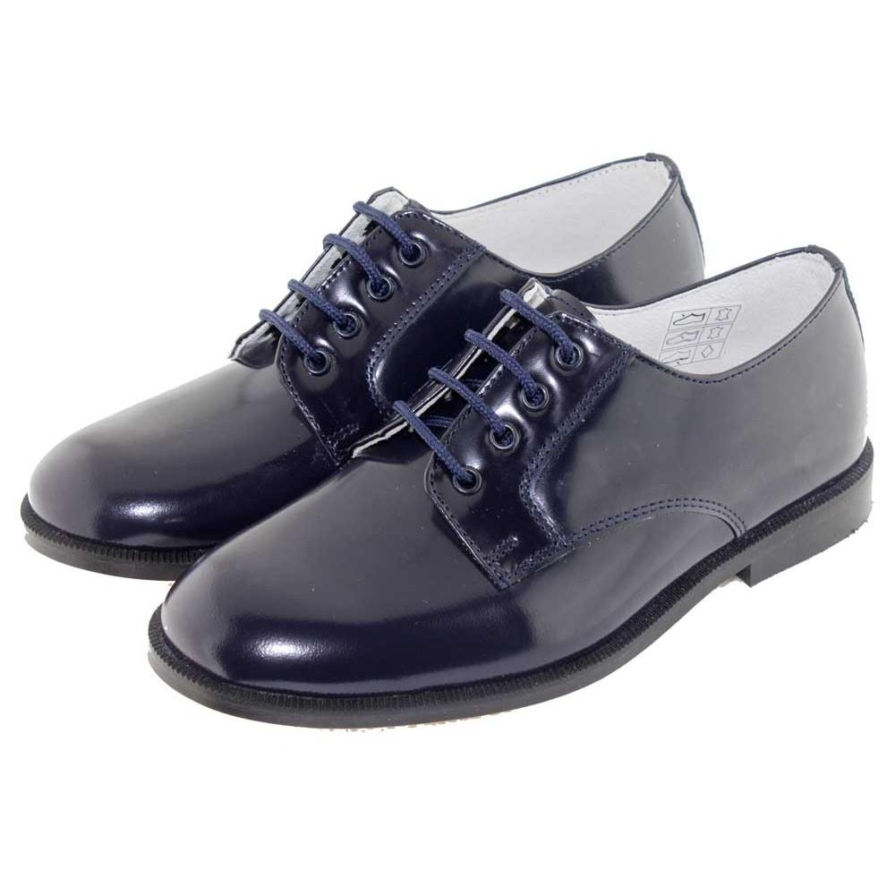 Zapatos marrones con cordones formales infantiles bGLCbXseve