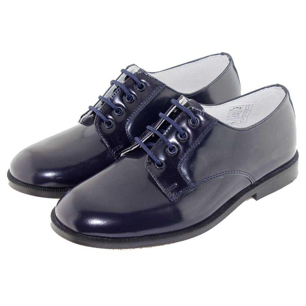 c623aeb6f76 Zapatos Blucher Niño Niña Antik azul marino