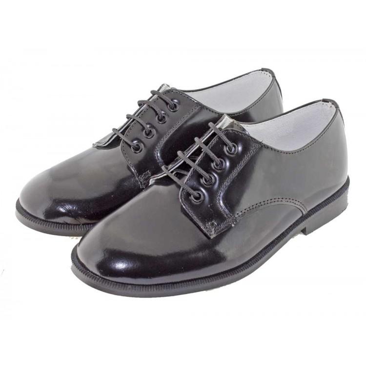 Zapatos Blucher Niño Niña Antik negro